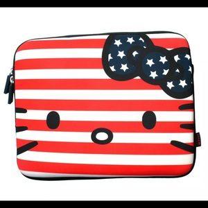 USA Flag Hello Kitty tablet/iPad case. By Loungfly